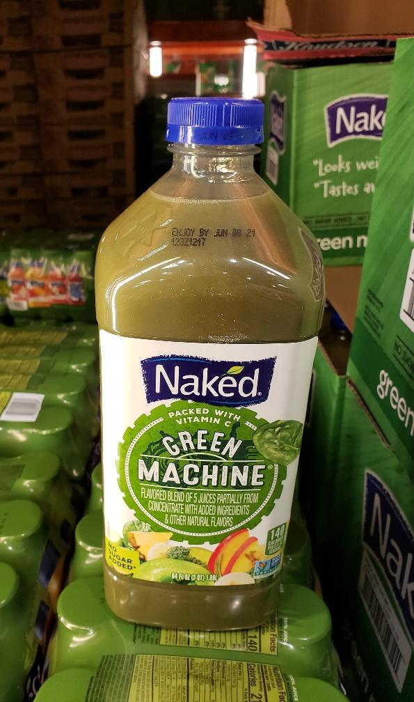 Naked Juice Nutrition Label
